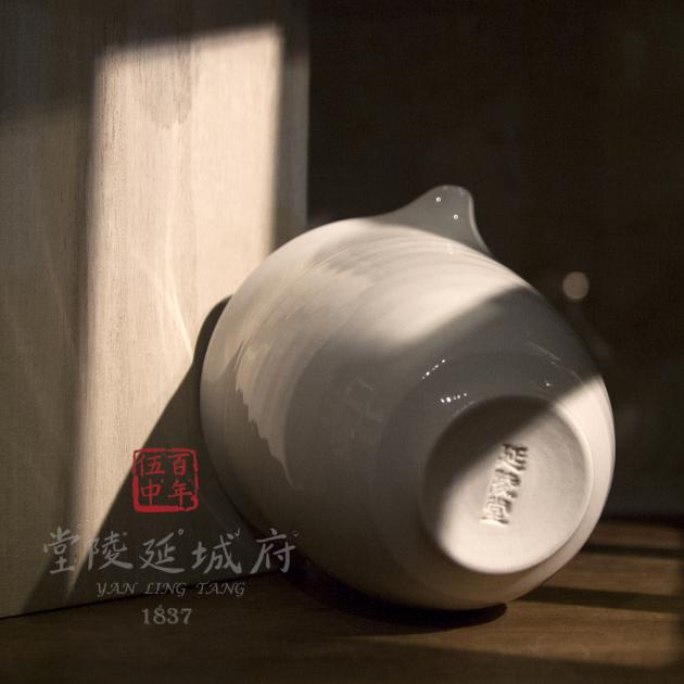 亮釉白瓷公道杯 3
